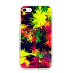 Чехол iPhone 6/6S Plus матовый Кислотный взрыв цвета 3D-белый — фото 1