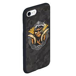 Чехол iPhone 7/8 матовый Камуфляжная обезьяна цвета 3D-черный — фото 2