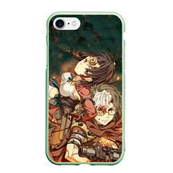 Чехол iPhone 7/8 матовый Воин крепости цвета 3D-салатовый — фото 1