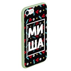 Чехол iPhone 7/8 матовый Миша цвета 3D-салатовый — фото 2