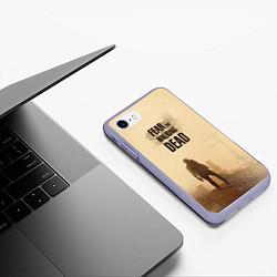 Чехол iPhone 7/8 матовый FtWD: Walking Zombie цвета 3D-светло-сиреневый — фото 2