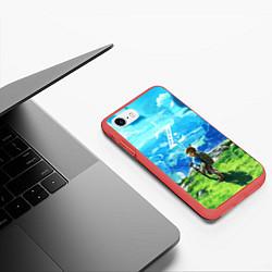 Чехол iPhone 7/8 матовый Z-Link цвета 3D-красный — фото 2