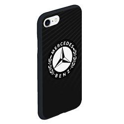 Чехол iPhone 7/8 матовый Mercedes-Benz цвета 3D-черный — фото 2