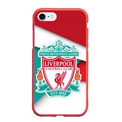 Чехол iPhone 7/8 матовый FC Liverpool цвета 3D-красный — фото 1