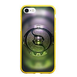 Чехол iPhone 7/8 матовый The International: Aegis 2018 цвета 3D-желтый — фото 1
