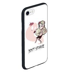 Чехол iPhone 7/8 матовый Don't Starve: Wendy цвета 3D-черный — фото 2