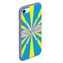 Чехол iPhone 7/8 матовый Флаг ВВС цвета 3D-серый — фото 2