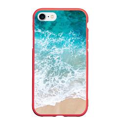 Чехол iPhone 7/8 матовый Берег цвета 3D-красный — фото 1