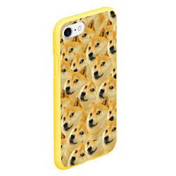 Чехол iPhone 7/8 матовый Doge цвета 3D-желтый — фото 2