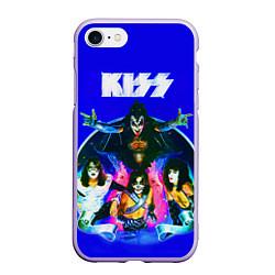Чехол iPhone 7/8 матовый Kiss Show цвета 3D-светло-сиреневый — фото 1