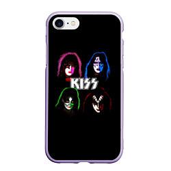 Чехол iPhone 7/8 матовый KISS: Acid Colours цвета 3D-светло-сиреневый — фото 1