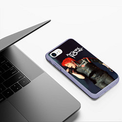 Чехол iPhone 7/8 матовый Gerard Way цвета 3D-светло-сиреневый — фото 2