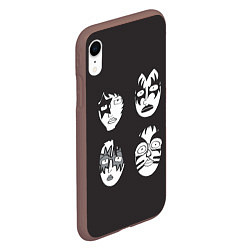 Чехол iPhone XR матовый KISS Mask цвета 3D-коричневый — фото 2