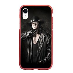 Чехол iPhone XR матовый Гробовщик 2 цвета 3D-красный — фото 1