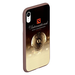Чехол iPhone XR матовый The International Championships цвета 3D-коричневый — фото 2