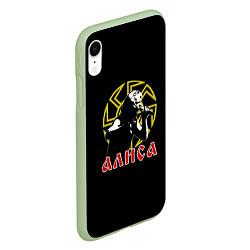 Чехол iPhone XR матовый АлисА: Коловрат цвета 3D-салатовый — фото 2