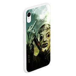 Чехол iPhone XR матовый Slipknot цвета 3D-белый — фото 2