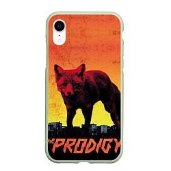 Чехол iPhone XR матовый The Prodigy: Red Fox цвета 3D-салатовый — фото 1