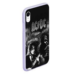 Чехол iPhone XR матовый AC/DC цвета 3D-светло-сиреневый — фото 2