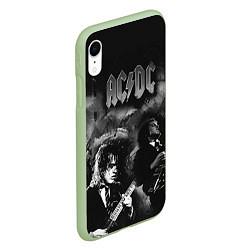 Чехол iPhone XR матовый AC/DC цвета 3D-салатовый — фото 2
