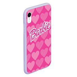 Чехол iPhone XR матовый Barbie цвета 3D-светло-сиреневый — фото 2