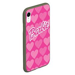 Чехол iPhone XR матовый Barbie цвета 3D-темно-зеленый — фото 2