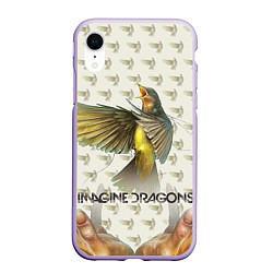 Чехол iPhone XR матовый Imagine Dragons: Fly цвета 3D-светло-сиреневый — фото 1