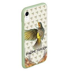 Чехол iPhone XR матовый Imagine Dragons: Fly цвета 3D-салатовый — фото 2