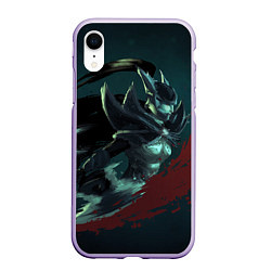 Чехол iPhone XR матовый Phantom Assassin цвета 3D-светло-сиреневый — фото 1