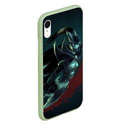 Чехол iPhone XR матовый Phantom Assassin цвета 3D-салатовый — фото 2