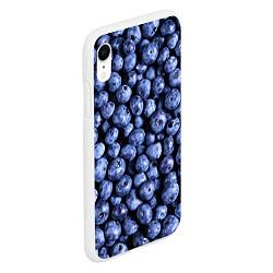 Чехол iPhone XR матовый Черника цвета 3D-белый — фото 2