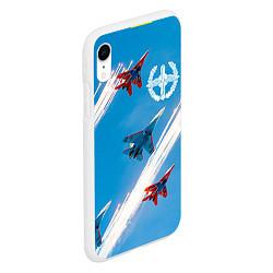 Чехол iPhone XR матовый Самолеты ВВС цвета 3D-белый — фото 2