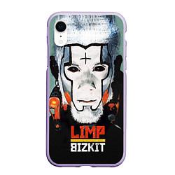 Чехол iPhone XR матовый Limp Bizkit: Faith Face цвета 3D-светло-сиреневый — фото 1