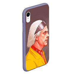 Чехол iPhone XR матовый Доктор Браун цвета 3D-серый — фото 2