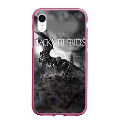 Чехол iPhone XR матовый Black Veil Brides: Faithless цвета 3D-малиновый — фото 1
