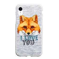 Чехол iPhone XR матовый Милая лисичка! цвета 3D-белый — фото 1