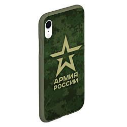 Чехол iPhone XR матовый Армия России цвета 3D-темно-зеленый — фото 2