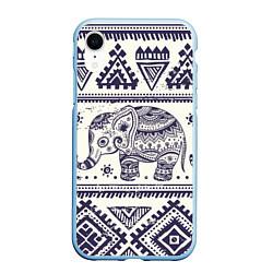Чехол iPhone XR матовый Африка цвета 3D-голубой — фото 1
