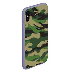 Чехол iPhone XS Max матовый Камуфляж: хаки/зеленый цвета 3D-серый — фото 2