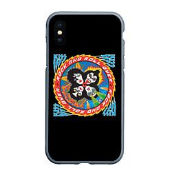 Чехол iPhone XS Max матовый KISS: Over цвета 3D-серый — фото 1
