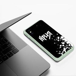 Чехол iPhone XS Max матовый Ария цвета 3D-салатовый — фото 2