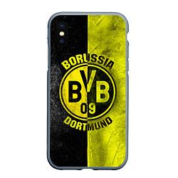 Чехол iPhone XS Max матовый Borussia Dortmund цвета 3D-серый — фото 1