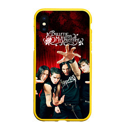 Чехол iPhone XS Max матовый Bullet for my valentine цвета 3D-желтый — фото 1