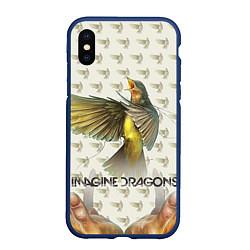 Чехол iPhone XS Max матовый Imagine Dragons: Fly цвета 3D-тёмно-синий — фото 1