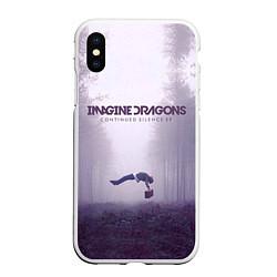 Чехол iPhone XS Max матовый Imagine Dragons: Silence цвета 3D-белый — фото 1