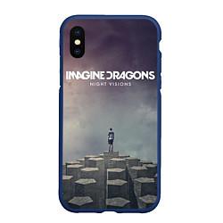 Чехол iPhone XS Max матовый Imagine Dragons: Night Visions цвета 3D-тёмно-синий — фото 1