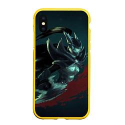 Чехол для iPhone XS Max матовый с принтом Phantom Assassin, цвет: 3D-желтый, артикул: 10065049105907 — фото 1