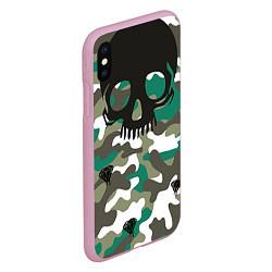 Чехол iPhone XS Max матовый Камуфляж цвета 3D-розовый — фото 2