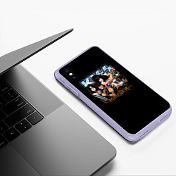 Чехол iPhone XS Max матовый Kiss Monster цвета 3D-светло-сиреневый — фото 2