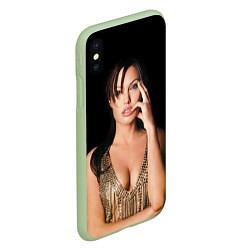 Чехол iPhone XS Max матовый Angelina Jolie цвета 3D-салатовый — фото 2